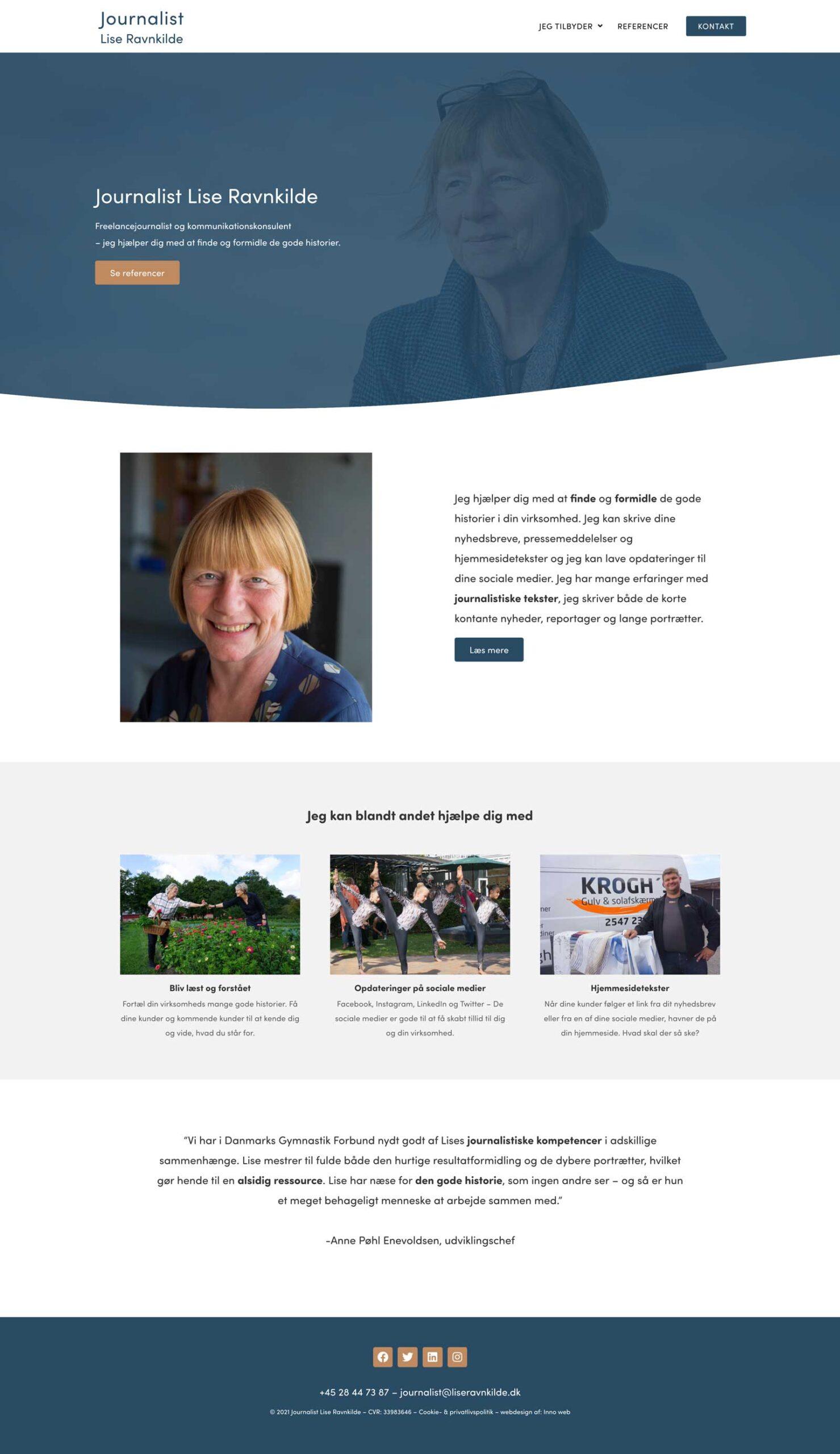 hjemmeside designer